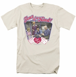 Lucille Ball Lucy t-shirt Four Of A Kind mens cream