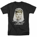 Lucille Ball Lucy t-shirt Glowing mens black