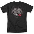 Lucille Ball Lucy t-shirt Hearts And Dots mens black