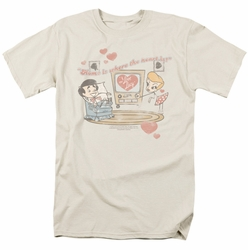Lucille Ball Lucy t-shirt Home Is Where The Heart Is mens cream