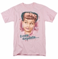 Lucille Ball Lucy t-shirt I Can Explain mens pink