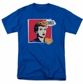 Lucille Ball Lucy t-shirt I Love Worhol Omg mens royal