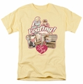 Lucille Ball Lucy t-shirt Just Loafing mens banana