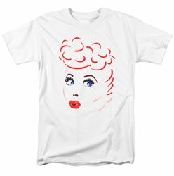 Lucille Ball Lucy t-shirt Lines Face mens white