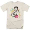 Lucille Ball Lucy t-shirt Luau Graphic mens cream