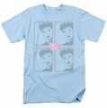 Lucille Ball Lucy t-shirt Lucy Squared mens light blue