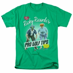 Lucille Ball Lucy t-shirt Pro Golf Tips mens kelly green
