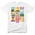 Lucille Ball Lucy t-shirt So Many Faces mens white