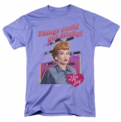 Lucille Ball Lucy t-shirt Things Could Get Sticky mens lavendar