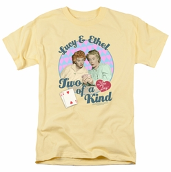 Lucille Ball Lucy t-shirt Two Of A Kind mens banana