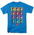 Lucille Ball Lucy t-shirt Worhol mens turquoise