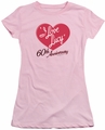 Lucy Lucille Ball juniors t-shirt 60th Anniversary pink