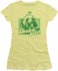 Lucy Lucille Ball juniors t-shirt Above Par banana