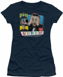 Lucy Lucille Ball juniors t-shirt Ai Yi Yi Yi Yi navy