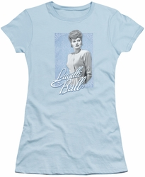 Lucy Lucille Ball juniors t-shirt Blue Lace light blue