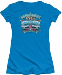 Lucy Lucille Ball juniors t-shirt California Here We Come turquoise