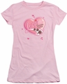 Lucy Lucille Ball juniors t-shirt Chocolate Smudges pink