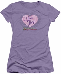 Lucy Lucille Ball juniors t-shirt Christmas Logo lavendar