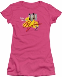 Lucy Lucille Ball juniors t-shirt Club Babalu hot pink