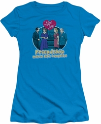 Lucy Lucille Ball juniors t-shirt Complete turquoise