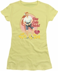 Lucy Lucille Ball juniors t-shirt Cute Chick banana