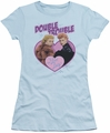 Lucy Lucille Ball juniors t-shirt Double Trouble light blue