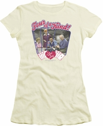 Lucy Lucille Ball juniors t-shirt Four Of A Kind cream