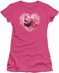 Lucy Lucille Ball juniors t-shirt Happy Anniversary hot pink