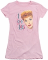 Lucy Lucille Ball juniors t-shirt Hollywood Open Hearts pink