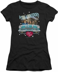 Lucy Lucille Ball juniors t-shirt Hollywood Road Trip black