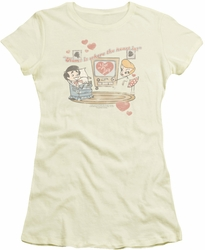 Lucy Lucille Ball juniors t-shirt Home Is Where The Heart Is cream