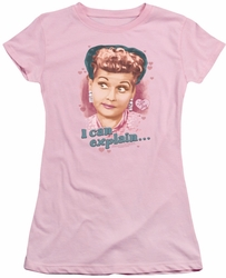 Lucy Lucille Ball juniors t-shirt I Can Explain pink