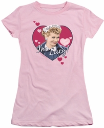 Lucy Lucille Ball juniors t-shirt I'm Lucy pink