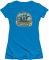Lucy Lucille Ball juniors t-shirt Lucy's Luau turquoise