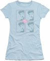 Lucy Lucille Ball juniors t-shirt Lucy Squared light blue