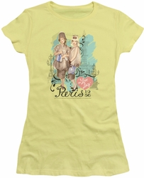 Lucy Lucille Ball juniors t-shirt Paris Dress banana