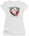 Lucy Lucille Ball juniors t-shirt Seasons Greetings white