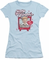Lucy Lucille Ball juniors t-shirt Sixty Years Of Laughter light blue