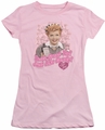 Lucy Lucille Ball juniors t-shirt Tastes Like Candy pink