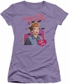 Lucy Lucille Ball juniors t-shirt Things Could Get Sticky lavendar