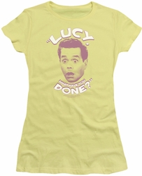 Lucy Lucille Ball juniors t-shirt What Have You Done banana