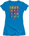 Lucy Lucille Ball juniors t-shirt Worhol turquoise