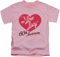 Lucy Lucille Ball kids t-shirt 60th Anniversary pink