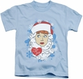 Lucy Lucille Ball kids t-shirt Beard Flakes light blue