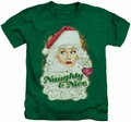 Lucy Lucille Ball kids t-shirt Santa kelly green