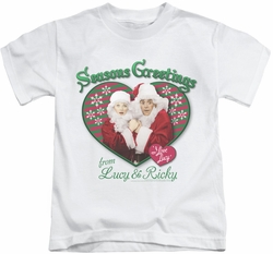 Lucy Lucille Ball kids t-shirt Seasons Greetings white