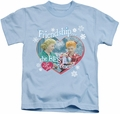 Lucy Lucille Ball kids t-shirt The Best Present light blue