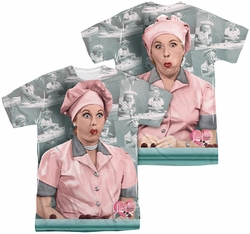 Lucy Lucille Ball mens full sublimation t-shirt Chocolate Belt