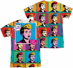 Lucy Lucille Ball mens full sublimation t-shirt LOL