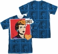 Lucy Lucille Ball mens full sublimation t-shirt OMG
